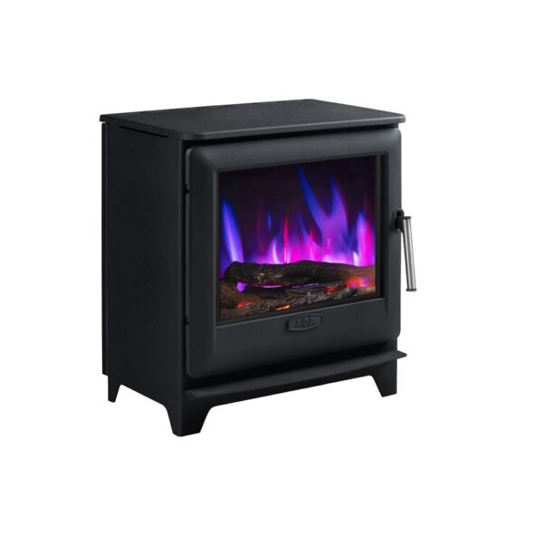 Aga Ludlow EC5 Widescreen Electric Stove - The Ludlow EC5W is the wider of our stoves and achieves an A for energy efficiency and measures 57.5cm wide x 61.2cm height. Equally at home in a traditional or contemporary setting, the Ludlow stoves offer an understated style, classic design and exquisite detail.