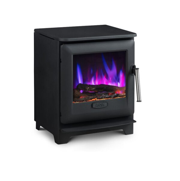 Aga Ludlow EC5 Electric Stove - The new Ludlow electric stoves from AGA are both stylish and perform brilliantly. With a 0.9kW to 1.9kW heat output, these modern stoves can be easily sited anywhere in your home. Stoves in this range have steel bodies and cast iron doors and only require a 13amp power supply.
