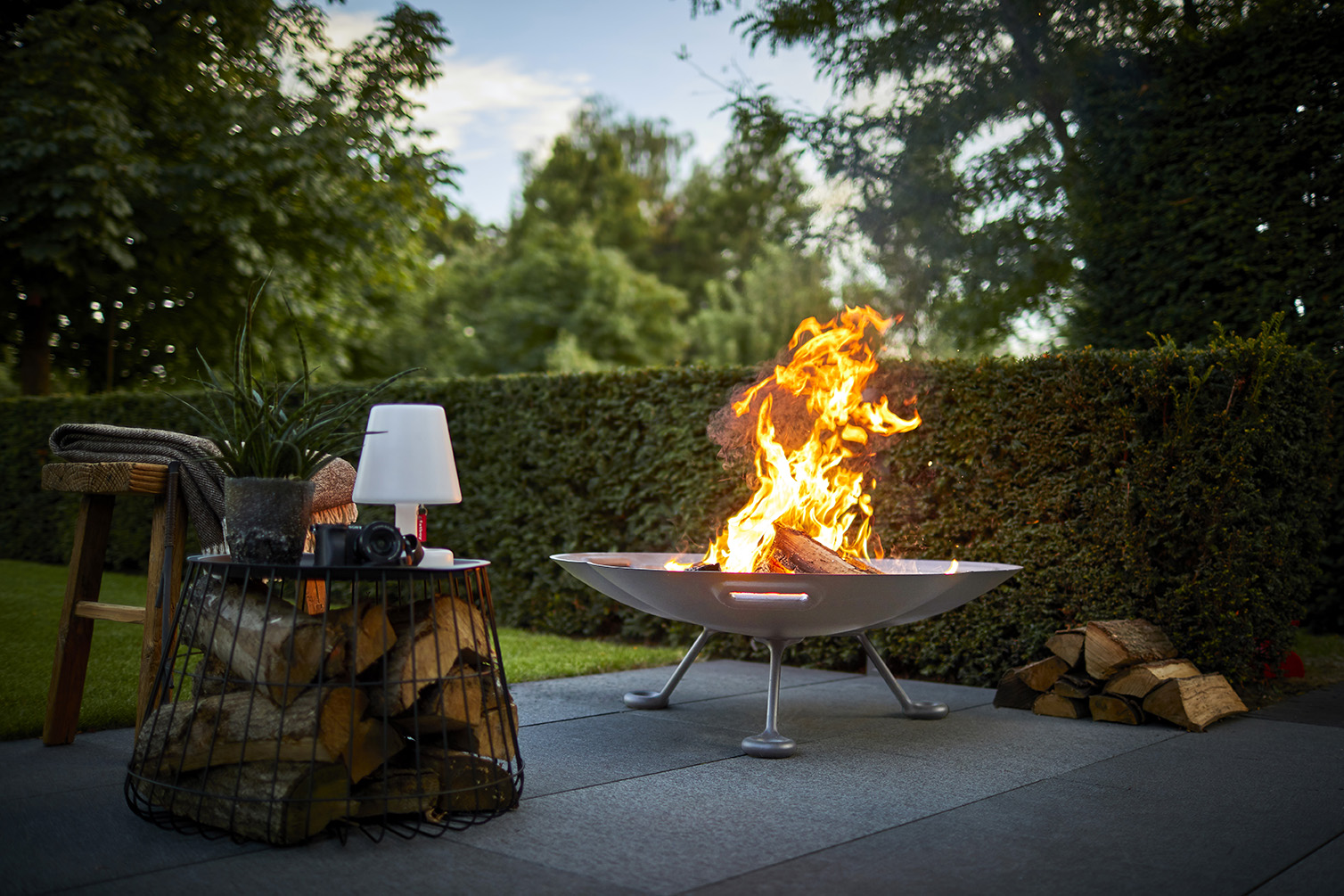 Lotus Cast Aluminium Firebowl - Low