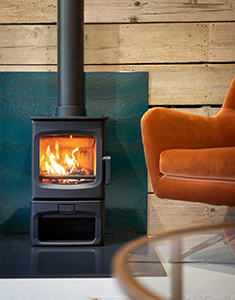 Charnwood Aire 3 on Store Stand BLU Ecodesign Ready Woodburning Stove