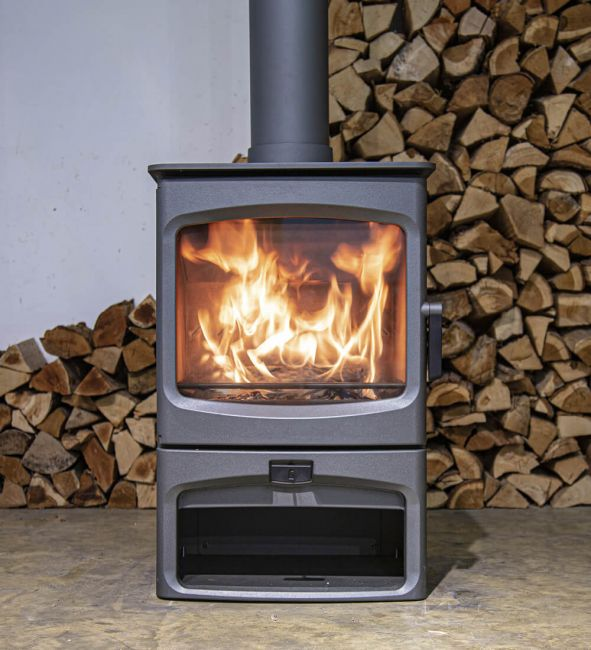 Charnwood Aire 7 on Store Stand BLU Ecodesign Ready Woodburning Stove