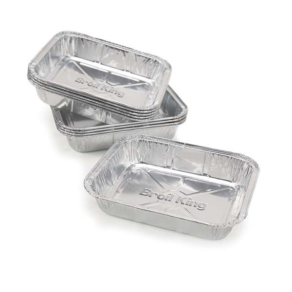 Broil King Small Foil Drip Pan (10 pack) - 12.1 x 15.2 x 2.5cm exact fit replacement drip pan for OMC pedestal or cabinet grills. Includes 10 pans.