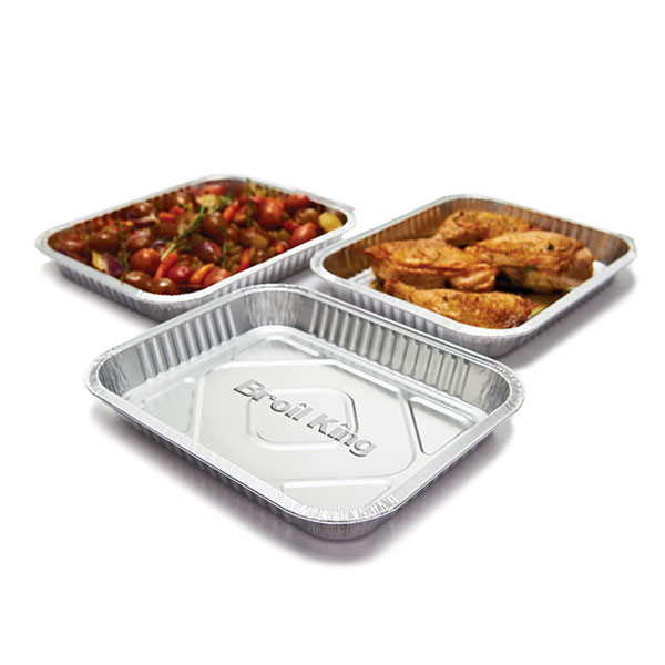 Broil King Large Foil Drip Pan (3 pack) - 26 x 32.4 x 3.8cm large foil pan for indirect cooking and flavouring foods. Includes 3 pans.