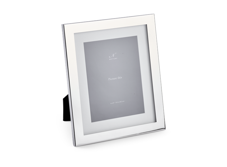 "Neptune Newton Silver Plated Photo Frame - 4"" x 6"""