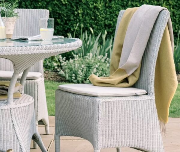 Neptune Chatto Dining Chair - Chatto is our classic English country garden furniture collection, suitable for using outside in the summer or else in a conservatory. It's made from Lloyd Loom – a material and making process that was especially popular in the early 20th century, giving Chatto its vintage aesthetic. This dining chair is available with arms (as a carver chair) or without.