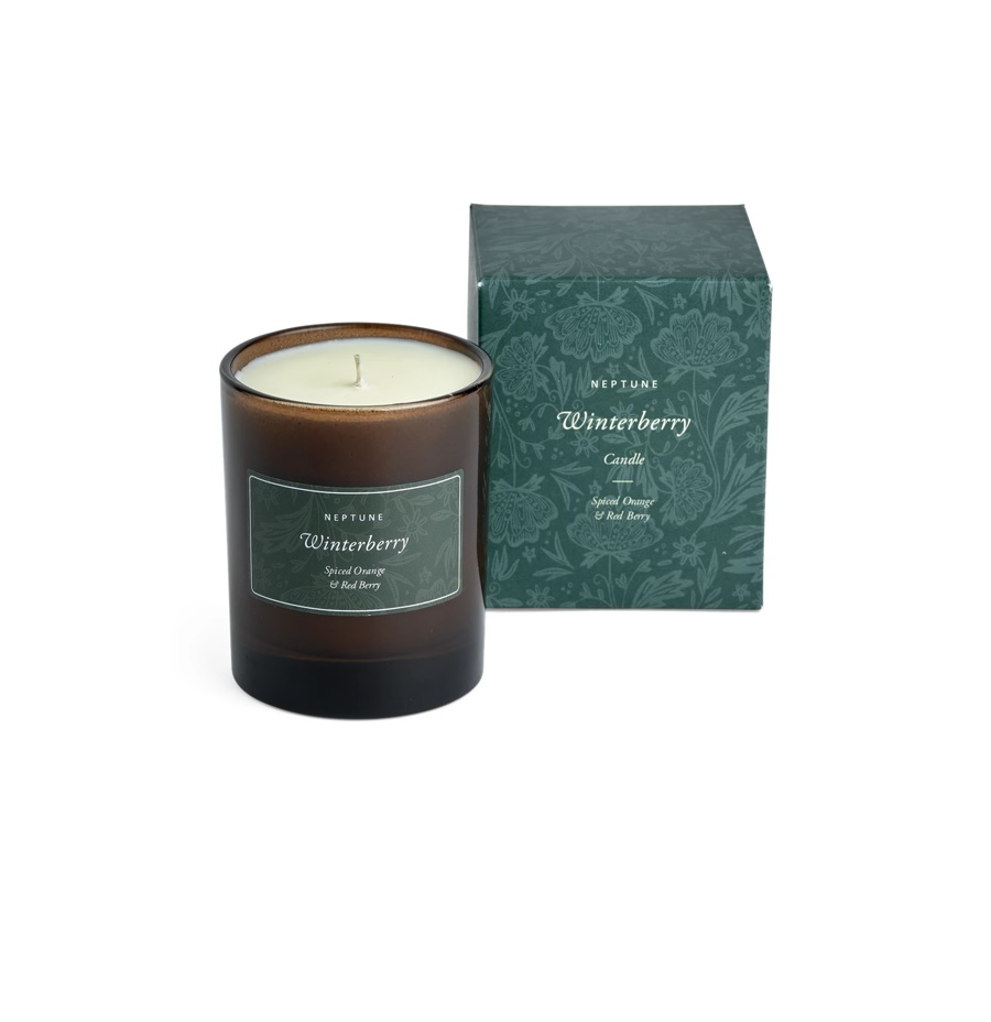 Neptune Winterberry Candle - Spiced Orange & Red Berry