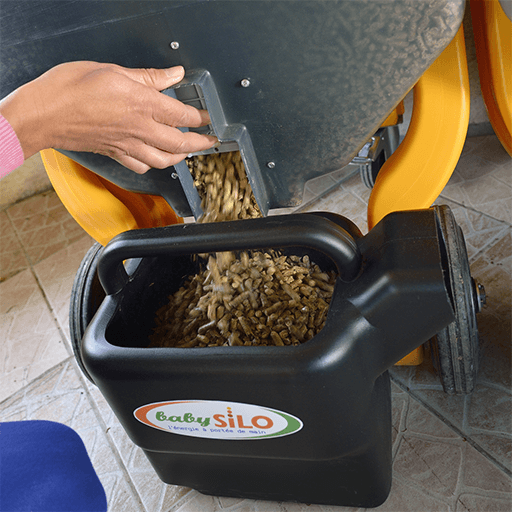 """Pellet Silo- Capacity 120Kg - <span style=""""display: inline !important; float: none; background-color: #ffffff; color: #333333; cursor: text; font-family: Georgia,'Times New Roman','Bitstream Charter',Times,serif; font-size: 16px; font-style: normal; font-variant: normal; font-weight: 400; letter-spacing: normal; orphans: 2; text-align: left; text-decoration: none; text-indent: 0px; text-transform: none; -webkit-text-stroke-width: 0px; white-space: normal; word-spacing: 0px;"""">PelletSilo is a unique innovative storage concept that allows the supply of pellets in mobile silo. This eco product is designed and manufactured in France.</span>"""