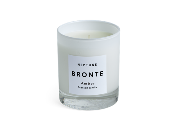 Neptune Bronte Amber Scented Candle - White - These candles come in weighty, frosted glass vessels (glossy outside, matte inside). Because they're white, they stay looking neat as the wax burns down. As well as single or double sets in present-ready boxes, Bronte also comes in two scents: Amber and Verveine. They're both citrusy, but this one, Amber, is warmer, sweeter and a bit spicy.
