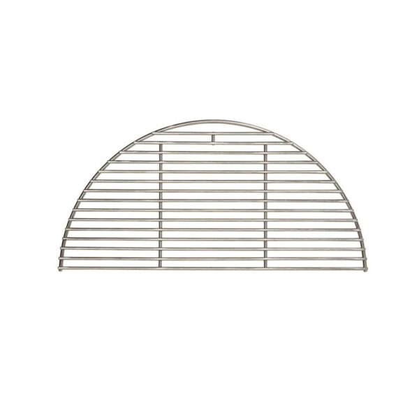 Kamado Joe - Stainless Steel Half Moon Cooking Grate - The traditional stainless steel grate is made with fine rods to allow more radiant heat through for charcoal grilling.