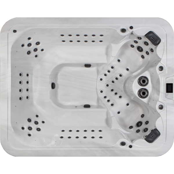 Novitek Yllas 9-seater hot tub - The Ylläs outdoor hot tub has enough size and vision.The massive pool with its powerful massage pumps relaxes up to nine bathers at a time.