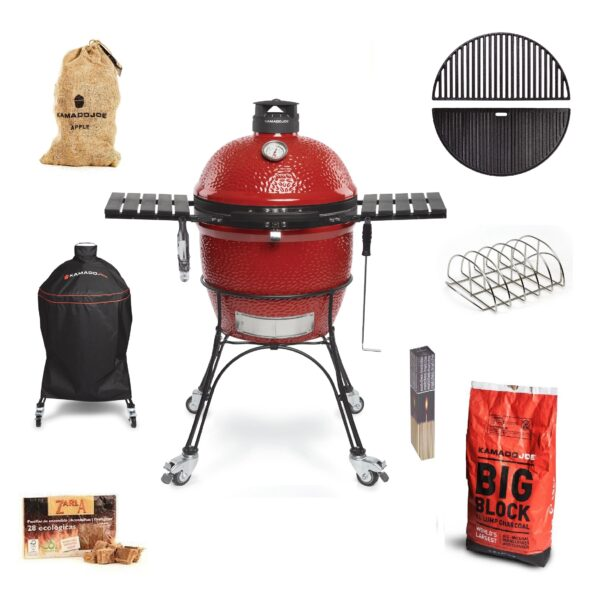 Kamado Joe - Classic II GET GRILLING Bundle - The Kamado Joe ? Classic II is the latest grill in the Kamado Joe Range. Maintaining the high standards of craftsmanship and innovation synonymous with Kamado Joe this model is packed with new features, making it the most advanced kamado grill available anywhere today.    <strong>Scroll down to see what's included in this bundle.</strong>