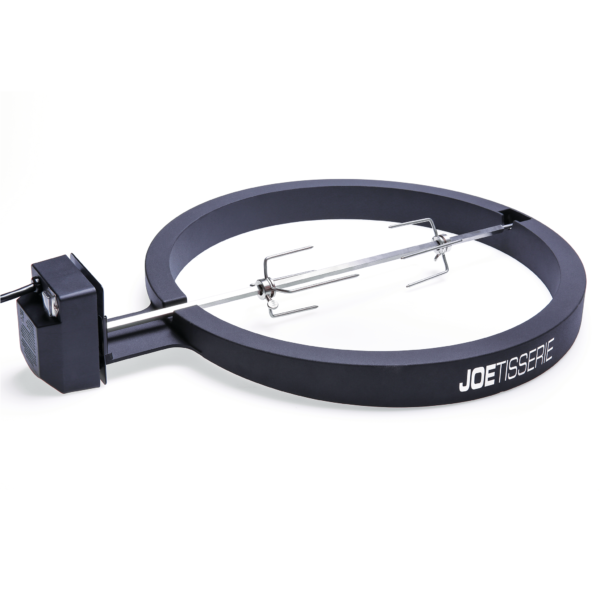 Kamado Joe - JoeTisserie for Classic - The rotisserie method is generally used for cooking large joints of meat or entire animals, such as chickens or turkeys. The rotation cooks the meat evenly in its own juices maximizing flavor and allows easy access for continuous basting.