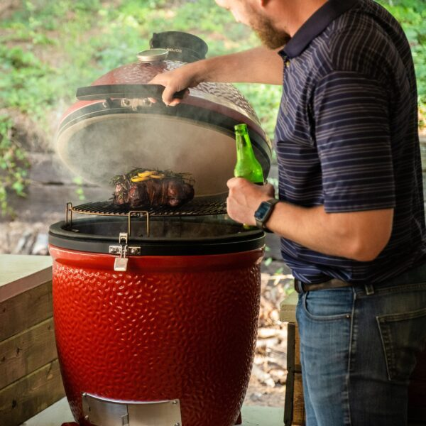 Kamado Joe - Classic II Stand-Alone - Want a more expansive grilling setup? Choose the Kamado Joe Stand-Alone, which can be installed in your custom outdoor kitchen or paired with one of our signature grilling tables. Available as a Classic or Big Joe, the Stand-Alone offers the same thoughtful craftsmanship that put Kamado Joe on the map, plus upgraded stainless steel top vent, handles, bands and hinge. Durable and versatile, the Stand-Alone will fit in beautifully with any permanent setup you have in mind.