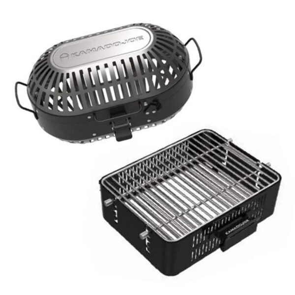 Kamado Joe - JoeTisserie Basket Set - This set comes with (1) rotisserie tumbler and (1) rotisserie cage. Use the tumbler for wings, shrimp, fries and small foods that would fall through the cage grates. Use the cage for lobster, tiger shrimp, fish or anything else you want to rotisserie.