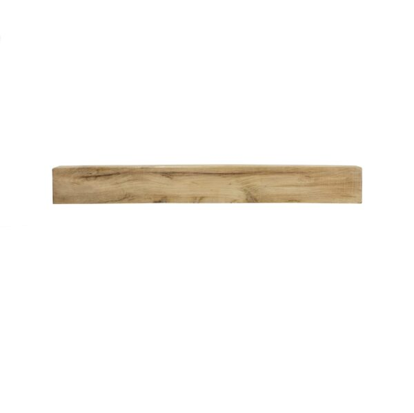 Oak Fireplace Beam: 1200mm x 150mm x 75mm - Our beautiful handcrafted solid oak beams are sustainably sourced and are suitable for a variety of uses including a feature mantle or shelf above a wood burning stove.? Available in 75mm, 100 and 150mm thick with an overall width of 1200mm and height of 150mm.? Oak beams are kiln dried to reduce excessive movement over time.? Available in either a light wax or unwaxed, please state your preference in the notes section of the checkout.