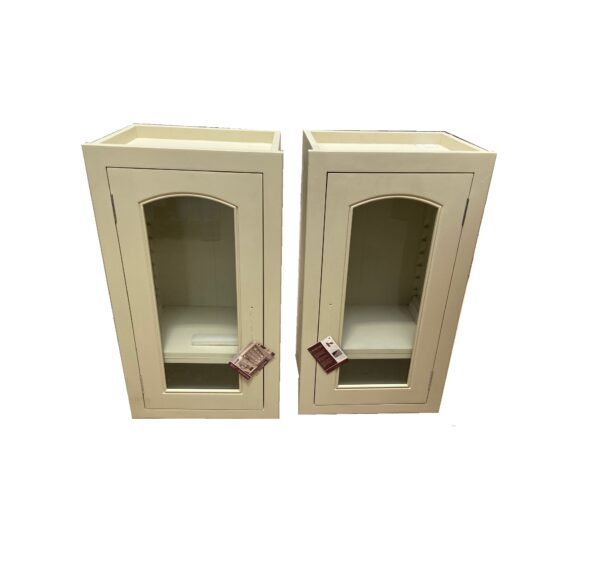 Neptune 450 Pair of Glazed Wall Cabinets (Arched)