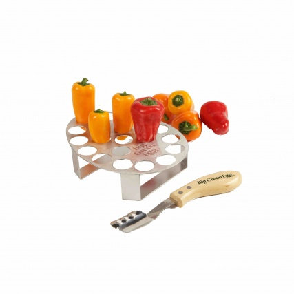 Big Green Egg Pepper Rack & Corer Set
