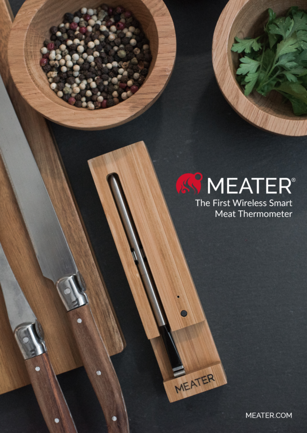 Meater + Smart Thermometer - Remove the guesswork from cooking with MEATER, the smartest cooking thermometer for your BBQ and Kitchen. The MEATER app will notify you when your food is ready.