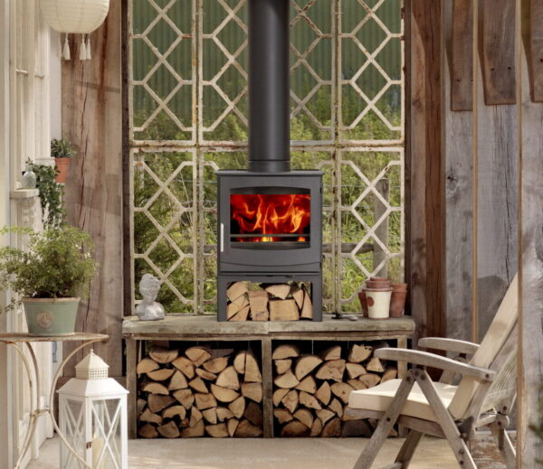 Woodwarm Fireview ECO 9kw on Logstore