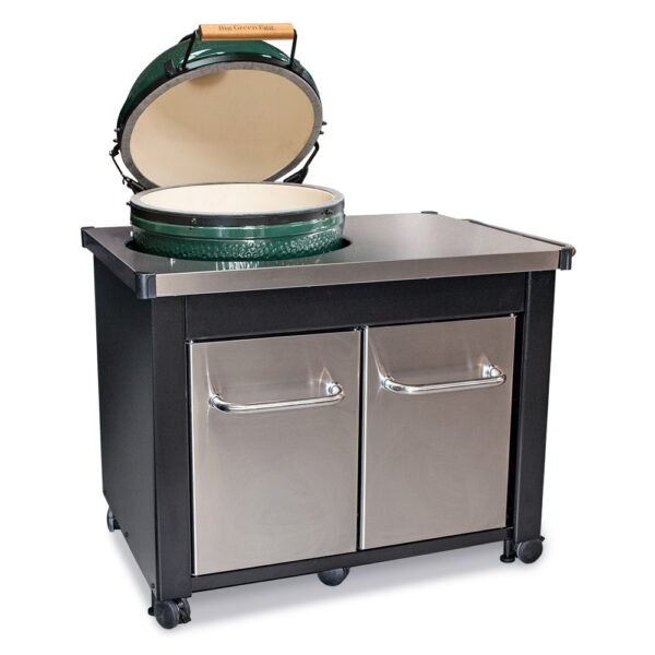 Large Big Green Egg Stainless Steel Table Bundle