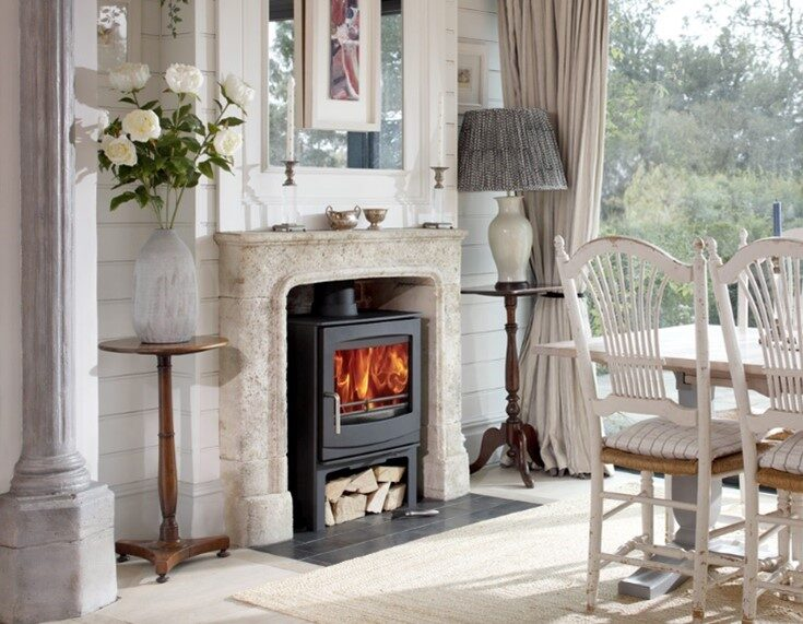 Woodwarm Fireview ECO 5kw on Logstore