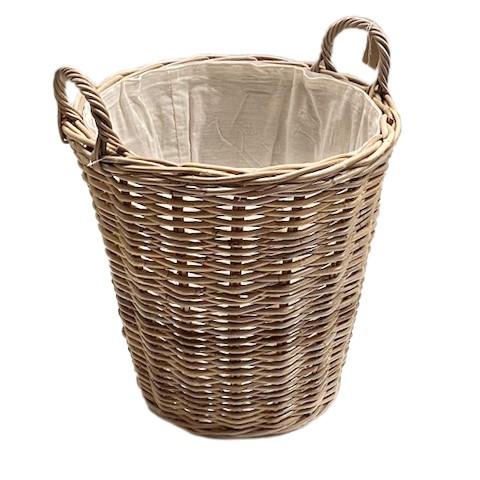 Glenweave Round Log Basket with Ear Handles & Liner