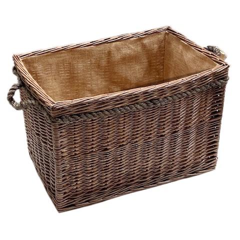 Rectangular Rope Handled Log Basket – Large