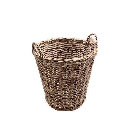 Round Log Basket with Ear Handles
