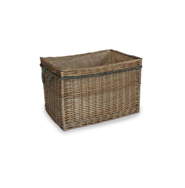 Rectangular Rope Handled Basket - Large