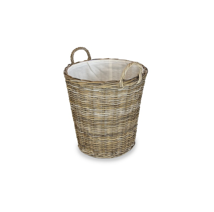 Round Basket with Ear Handles & Liner