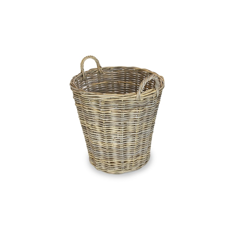 Round Basket with Ear Handles - Lined