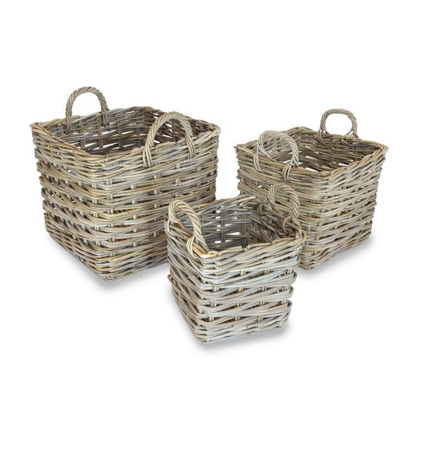 Square Log Storage Basket