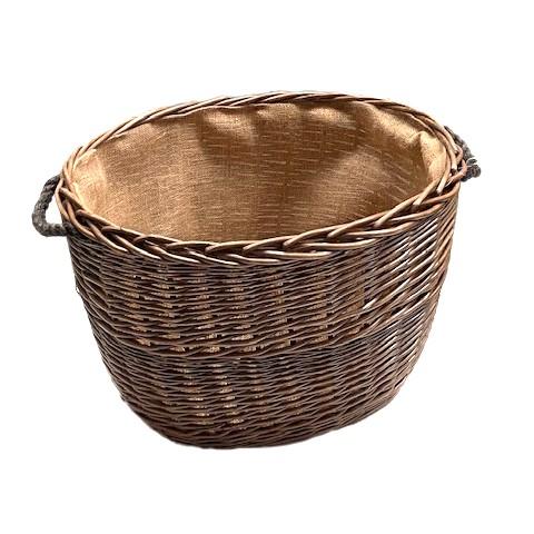 Antique Wash Oval Log Basket - Large