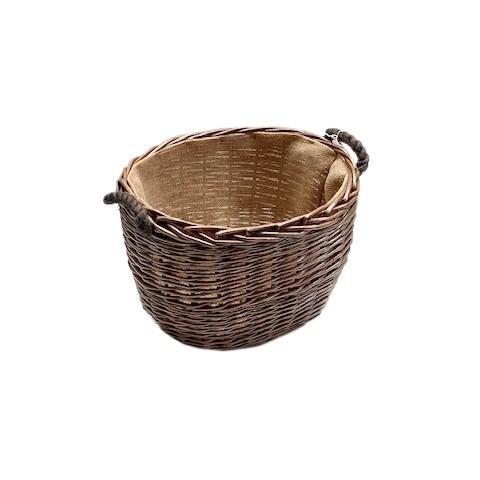 Antique Wash Oval Log Basket - Small