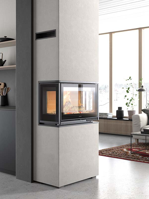 Contura i8 Inset Stove - The Contura i8 offers you multiple options for creating a unique look in your home. The cassette comes in a range of designs with sidelights on both sides, or on just the right or left side. Door with a cast-iron frame for a robust and subtle look.