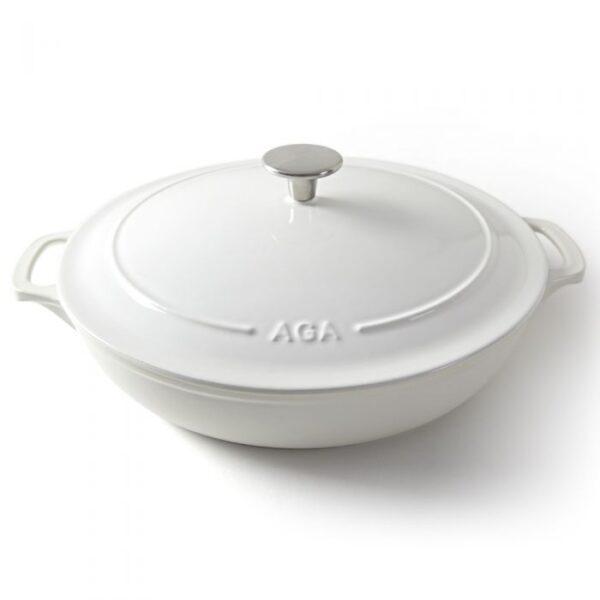 AGA Cast Iron 30cm Buffet Casserole - White