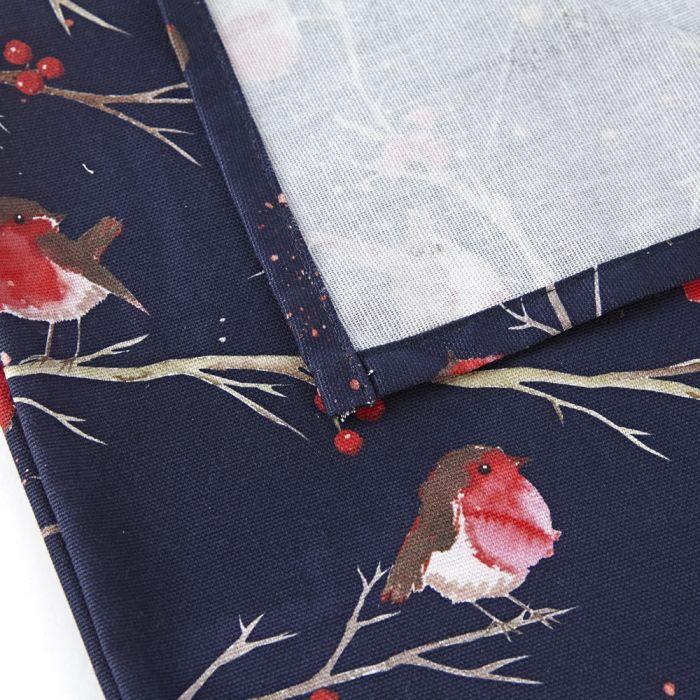 AGA winter robin tea towel