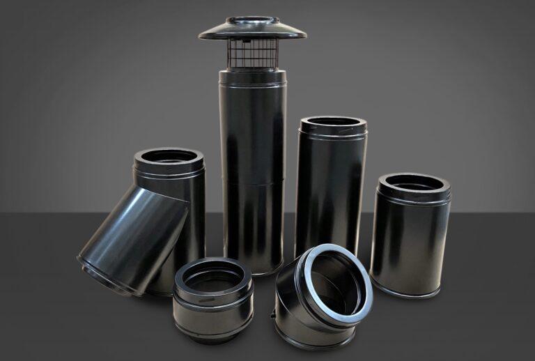 Black Icid flue pipe