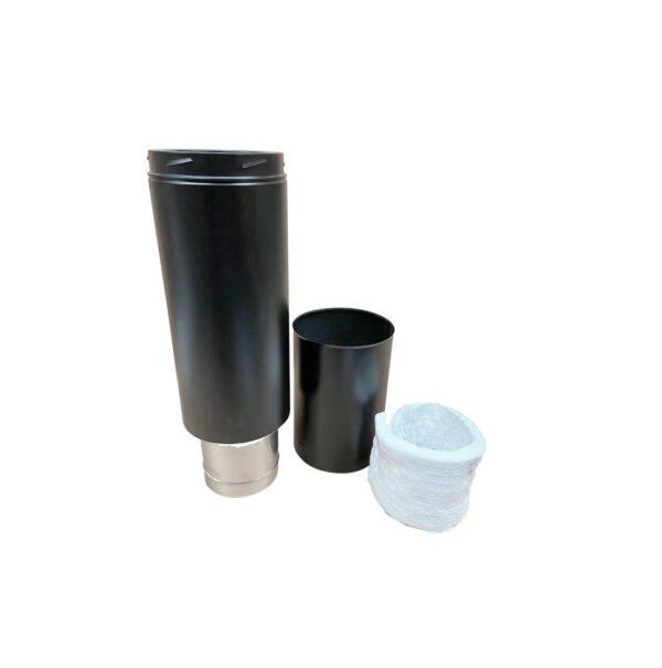 Adjustable Starter Section 600mm - Schiedel ICID Twin Wall - Black