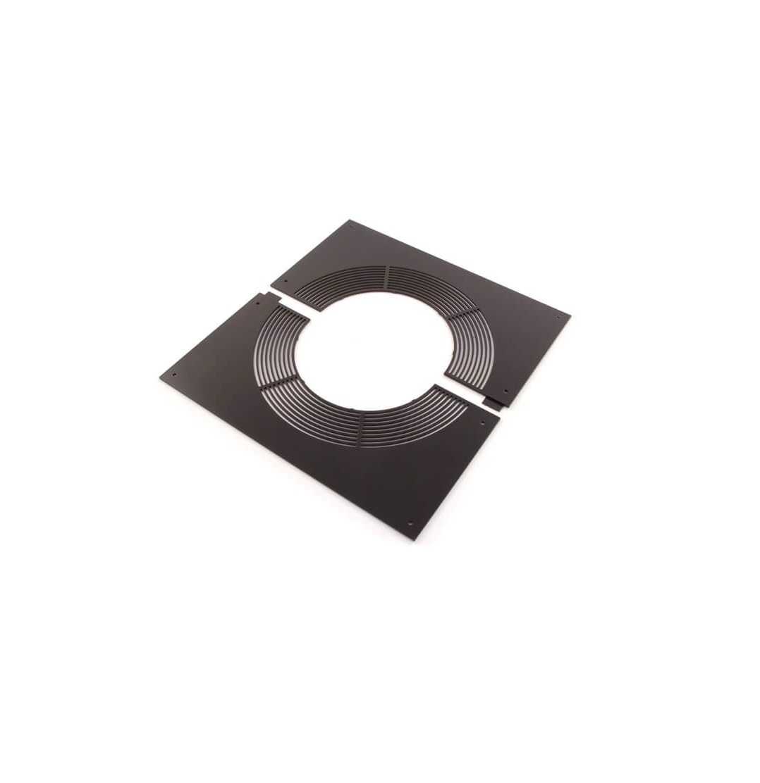 Rectangular Ventilated Floor Support Plate - Schiedel ICID Twin Wall Flue - Black