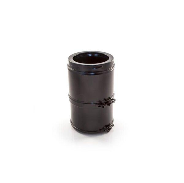 Telescopic Pipe 215-310mm - Schiedel ICID Twin Wall - Black
