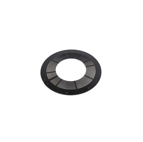 Ventilated Round Firestop Plate - Schiedel Twin Wall Flue - Black