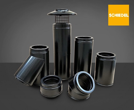 Schiedel Icid Black Chimney insulsted flue pipe