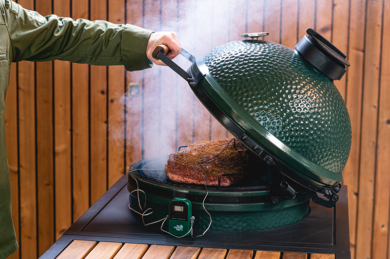 Preparation for Low Slow Cooked Brisket Big Green Egg BBQ
