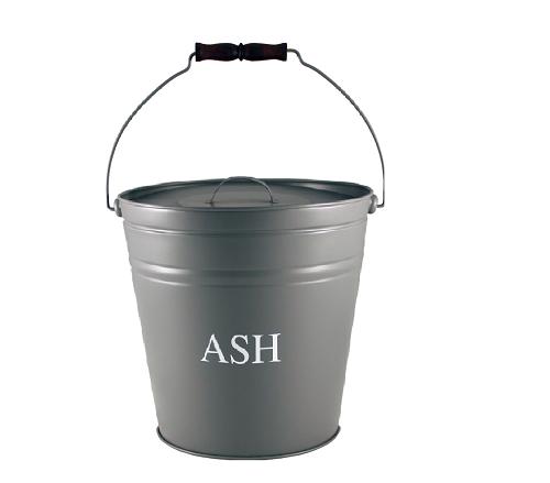 Grey Ash Bucket with Lid