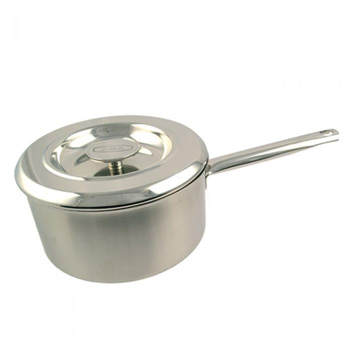Stainless Steel Saucepan & Lid – 22cm